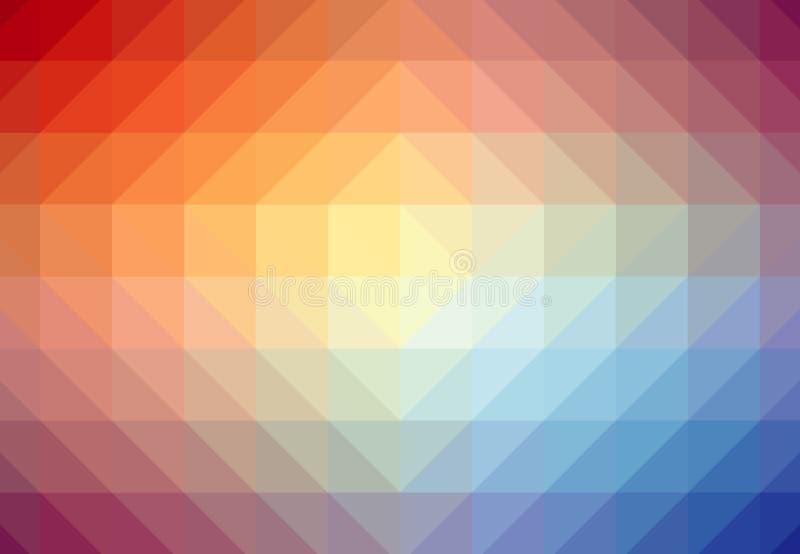 Fondo geometrico di effetto di ondulazione di Digital royalty illustrazione gratis