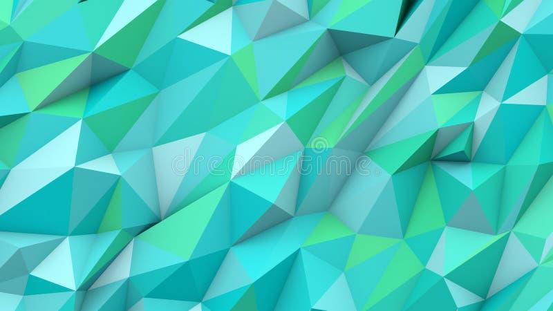 Fondo geometrico di forma di ciano colori astratti dei triangoli poli illustrazione vettoriale