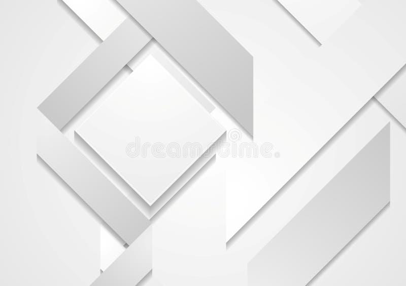 Fondo geometrico di forme di ciao-tecnologia astratta royalty illustrazione gratis
