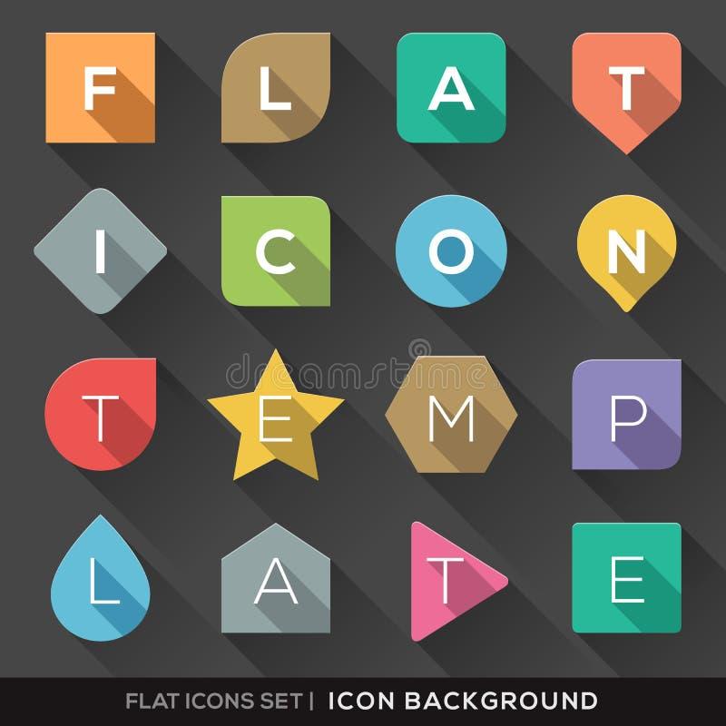 Fondo geometrico di forme per le icone piane messe illustrazione di stock