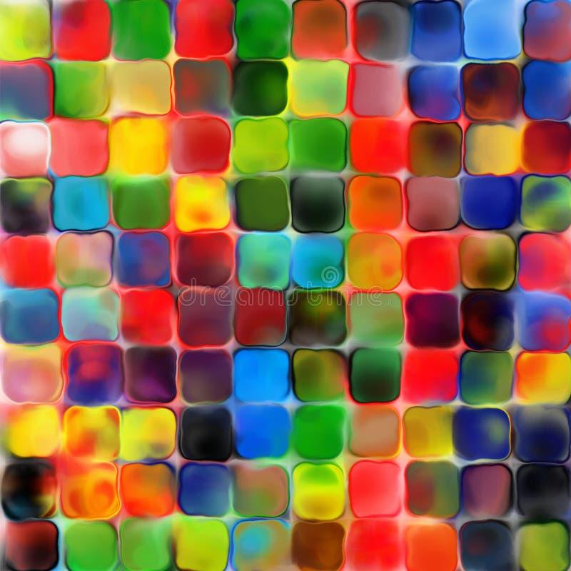 Fondo geometrico di pallette dell'arcobaleno della pittura mozaic variopinta astratta delle mattonelle illustrazione di stock