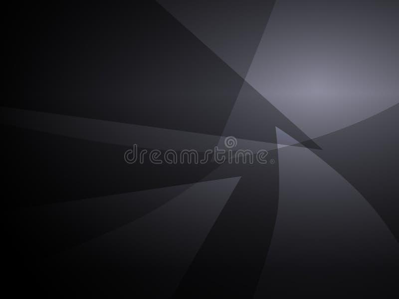 Fondo geometrico di progettazione di forma del nero dell'estratto illustrazione di stock