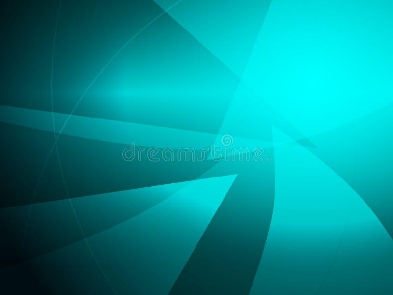 Fondo geometrico di progettazione di forma del turchese dell'estratto illustrazione vettoriale