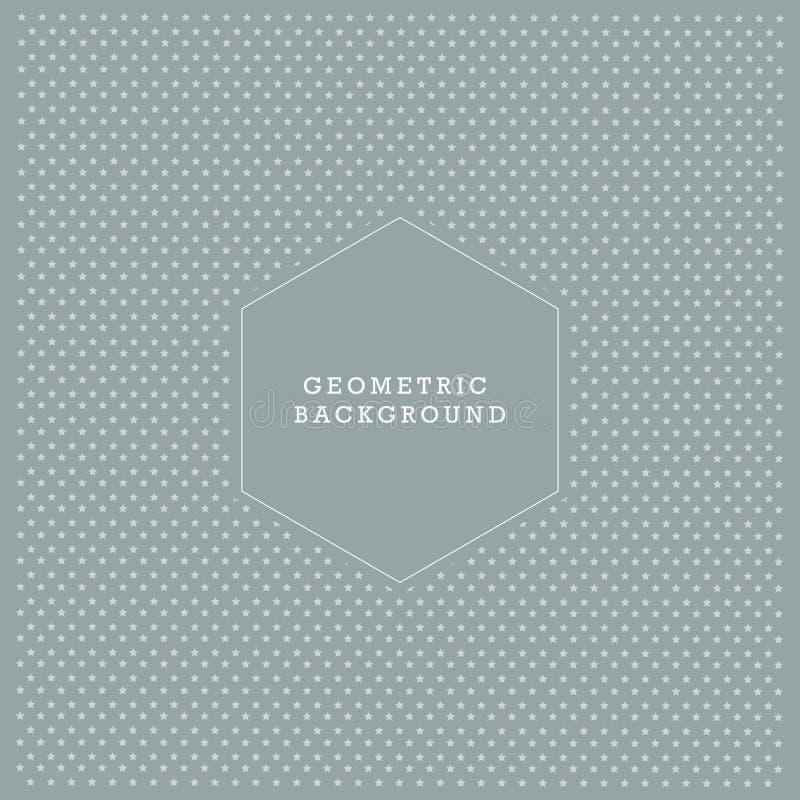 Fondo geometrico di struttura del modello di forma della stella illustrazione vettoriale
