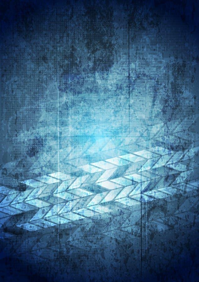Fondo geometrico di tecnologia blu di lerciume illustrazione vettoriale