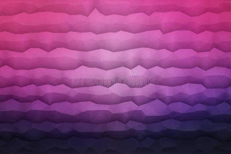 Fondo geometrico di vettore astratto 3D illustrazione di stock