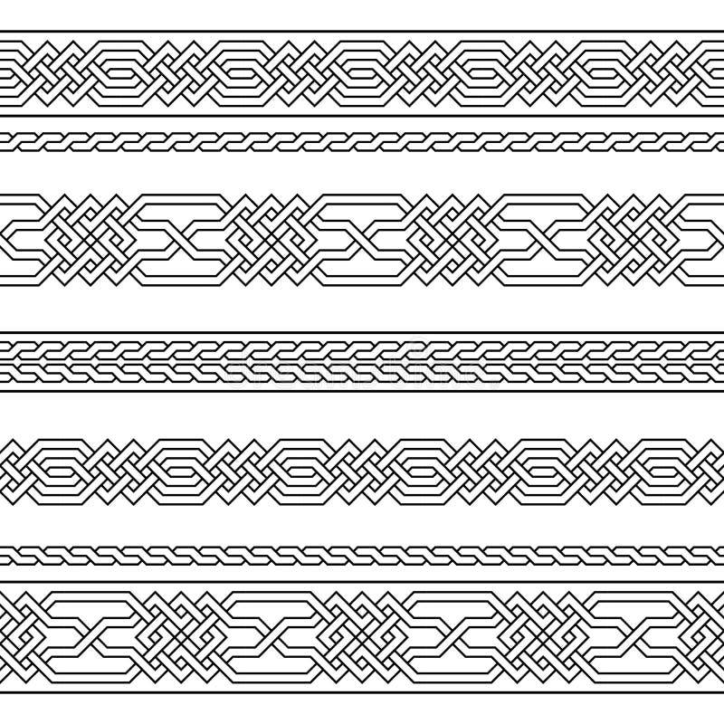 Fondo geometrico islamico semplice Vector il reticolo senza giunte motivo ripetuto illustrazione di stock