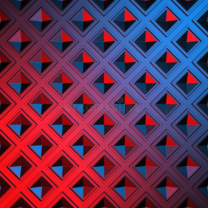 Fondo geometrico lucido del modello di rosso blu illustrazione vettoriale