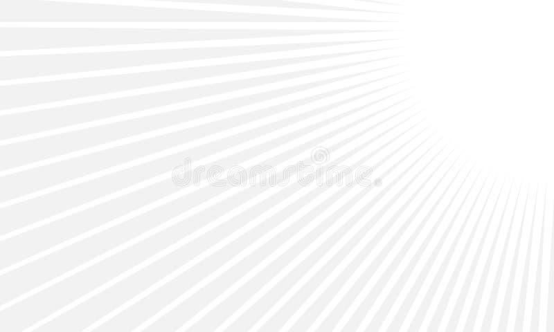 Fondo geometrico minimo dell'estratto con la composizione dinamica in forme Colore bianco e grigio illustrazione vettoriale