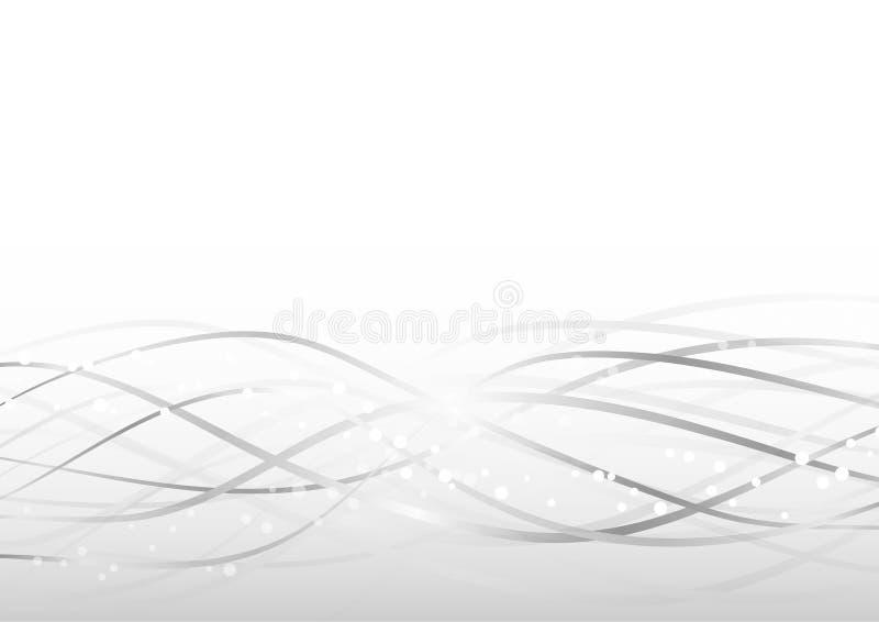 Fondo geometrico moderno grigio astratto illustrazione vettoriale