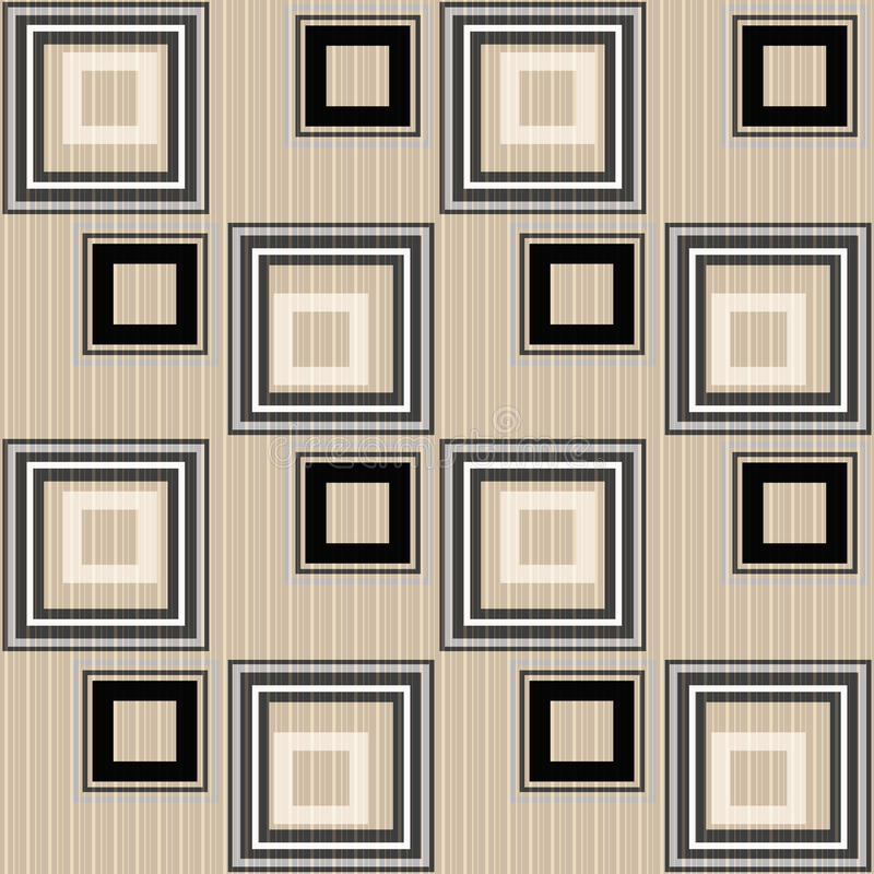 Fondo geometrico ornamento astratto senza cuciture del modello del retro illustrazione vettoriale