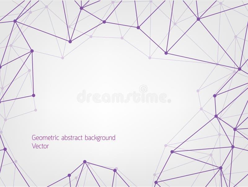 Fondo geometrico porpora dell'estratto del poligono illustrazione vettoriale