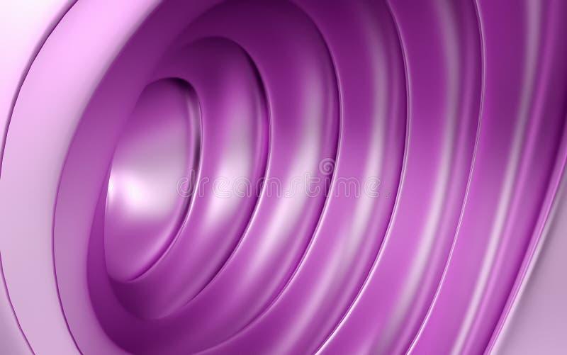 Fondo geometrico rosa astratto del cono 3 D rendono illustrazione vettoriale