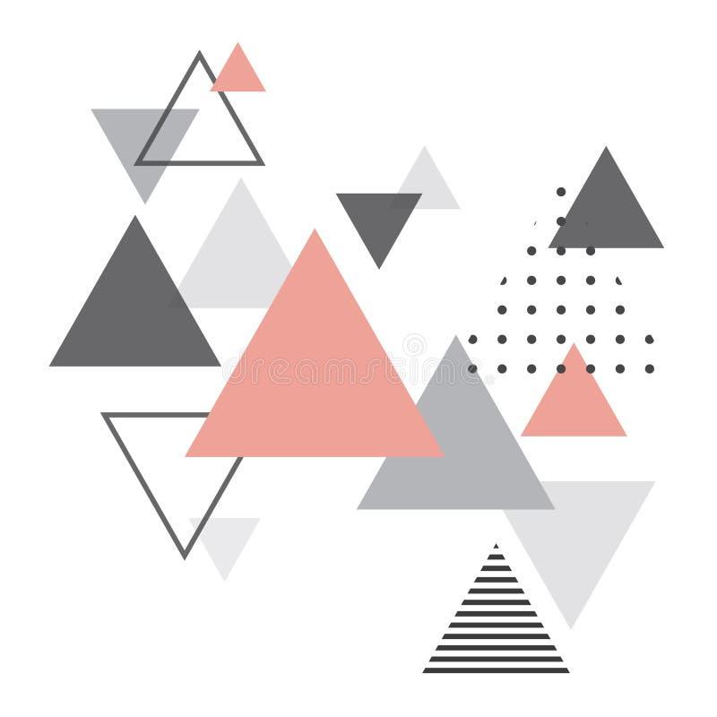 Fondo geometrico scandinavo astratto illustrazione vettoriale