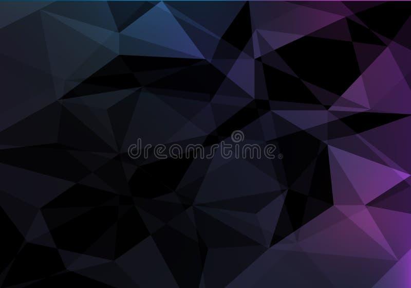 Fondo geometrico scuro Modello dell'estratto di vettore con struttura poligonale illustrazione di stock
