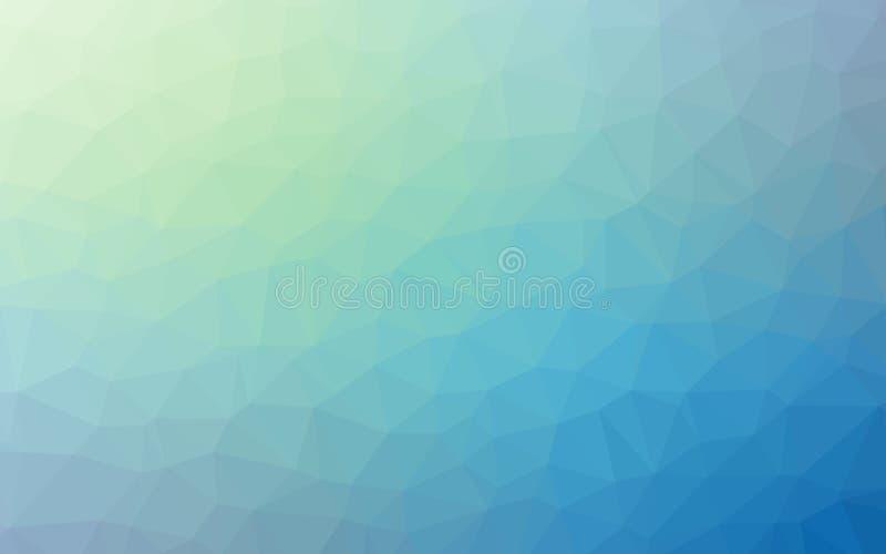 Fondo geometrico semplice astratto di Violet Blue di origami di tono della natura illustrazione vettoriale
