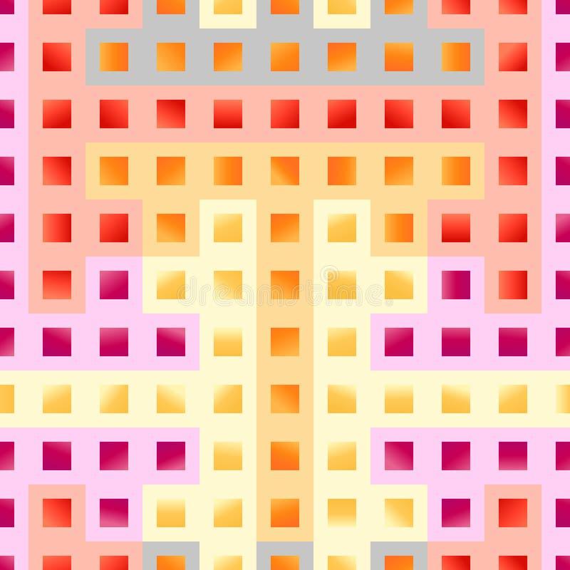 Fondo geometrico senza cuciture astratto di vettore Reticolo dell'annata royalty illustrazione gratis