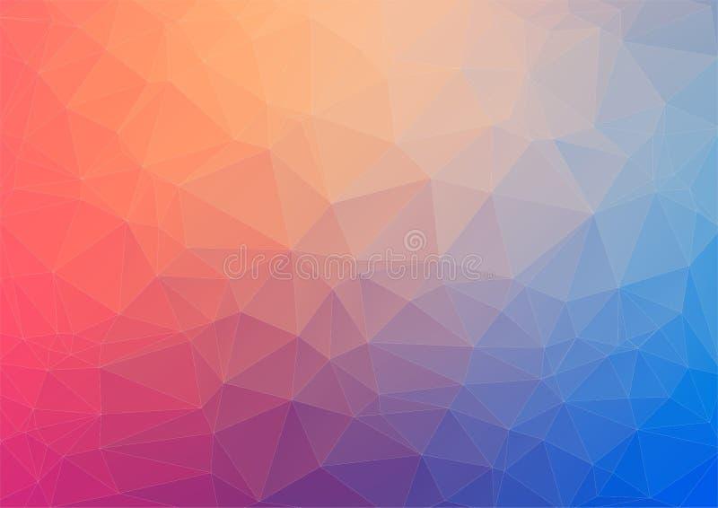 Fondo geometrico variopinto con i triangoli illustrazione di stock
