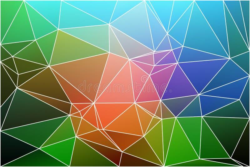 Fondo geometrico verde blu rosa con la maglia royalty illustrazione gratis