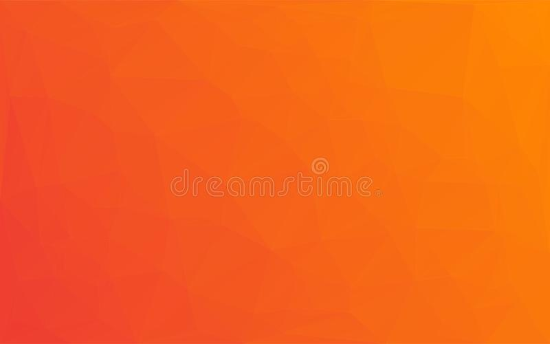 Fondo giallo arancione di vettore astratto del mosaico del poligono illustrazione vettoriale