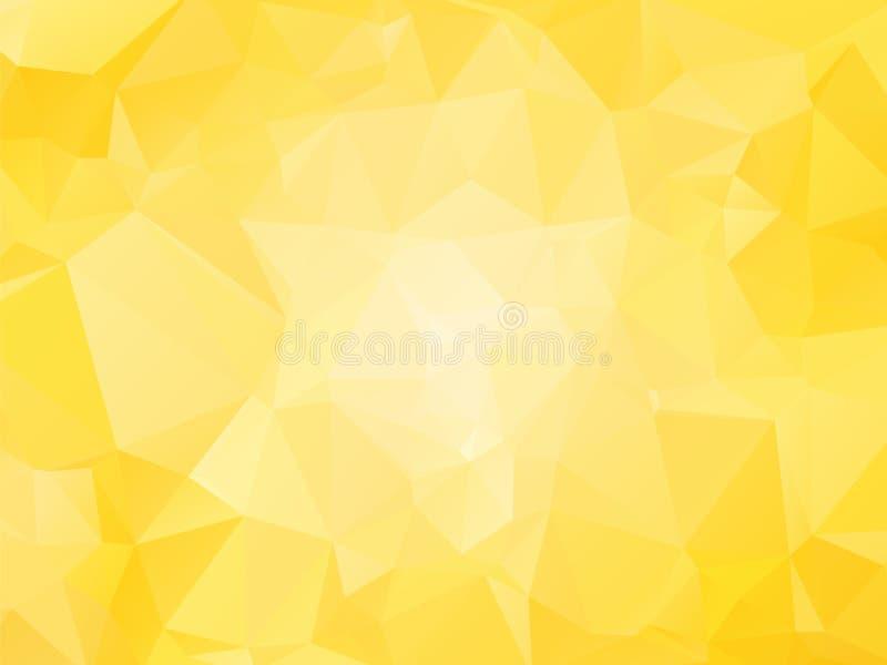 Fondo giallo con i triagles