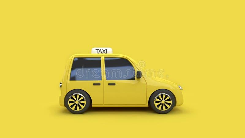 fondo giallo 3d del taxi 3d del trasporto di viaggio della città di concetto giallo di comunicazione rendere illustrazione vettoriale