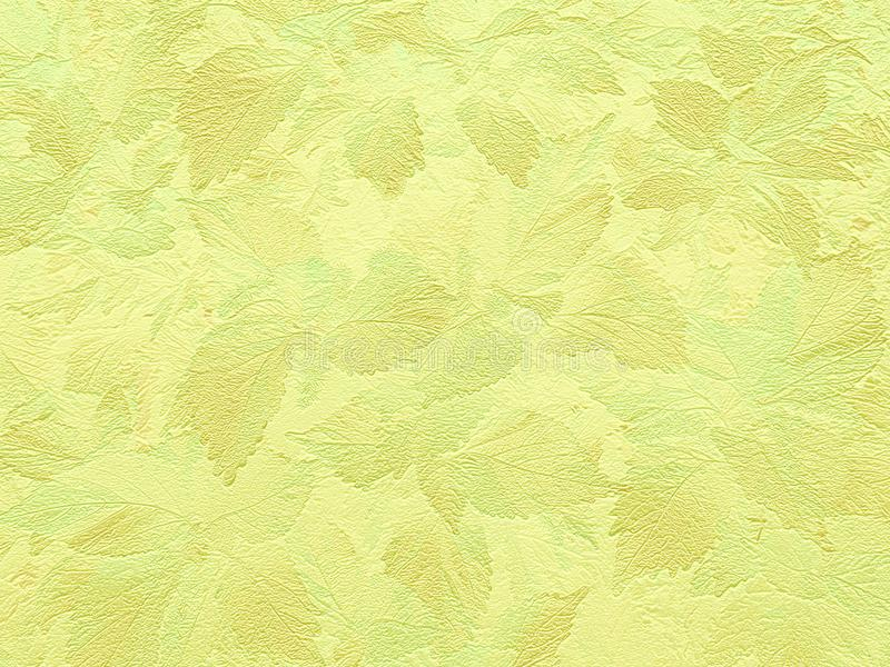 Fondo giallo del fogliame illustrazione di stock