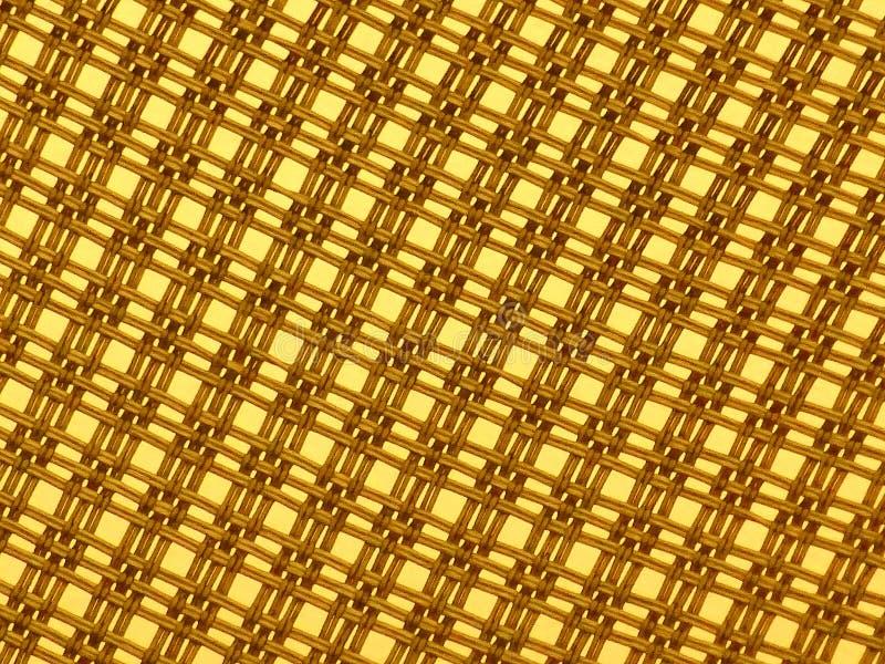 Fondo giallo del modello del cavo fotografie stock