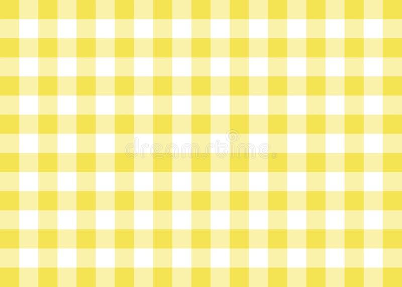 Fondo giallo del modello del percalle royalty illustrazione gratis