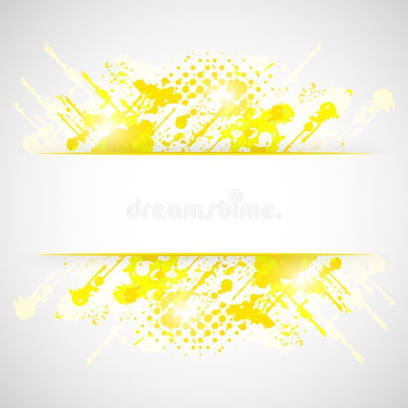 Fondo giallo dell'estratto di lerciume della spruzzata illustrazione vettoriale