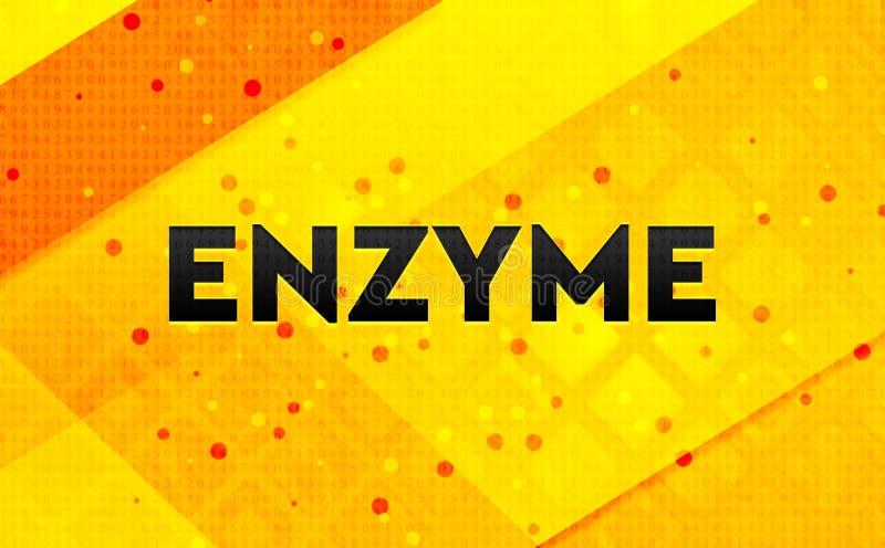Fondo giallo dell'insegna digitale dell'estratto degli enzimi illustrazione di stock