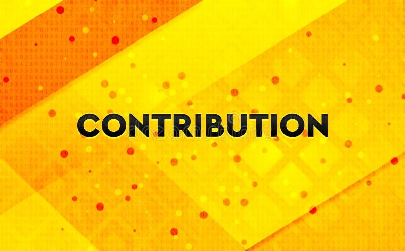 Fondo giallo dell'insegna digitale dell'estratto di contributo illustrazione vettoriale