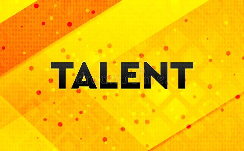 Fondo giallo dell'insegna digitale dell'estratto di talento illustrazione di stock