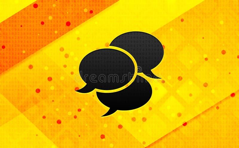 Fondo giallo dell'insegna digitale dell'estratto dell'icona di osservazioni royalty illustrazione gratis