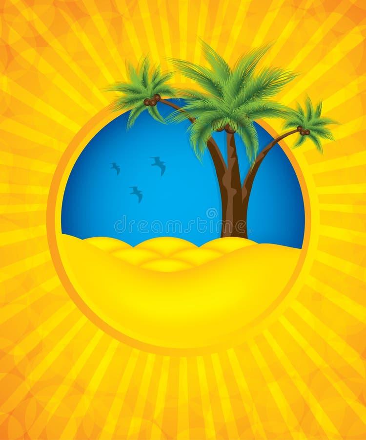 Fondo giallo di estate illustrazione vettoriale
