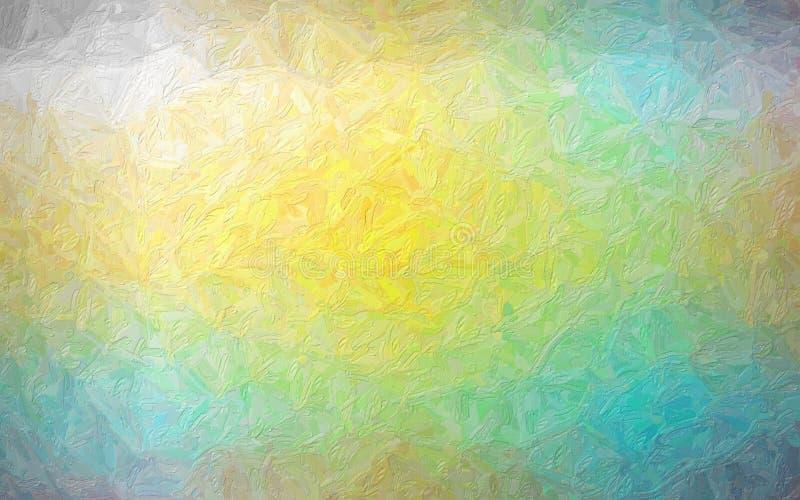 Fondo giallo e verde blu della pittura, digitalmente generato illustrazione vettoriale