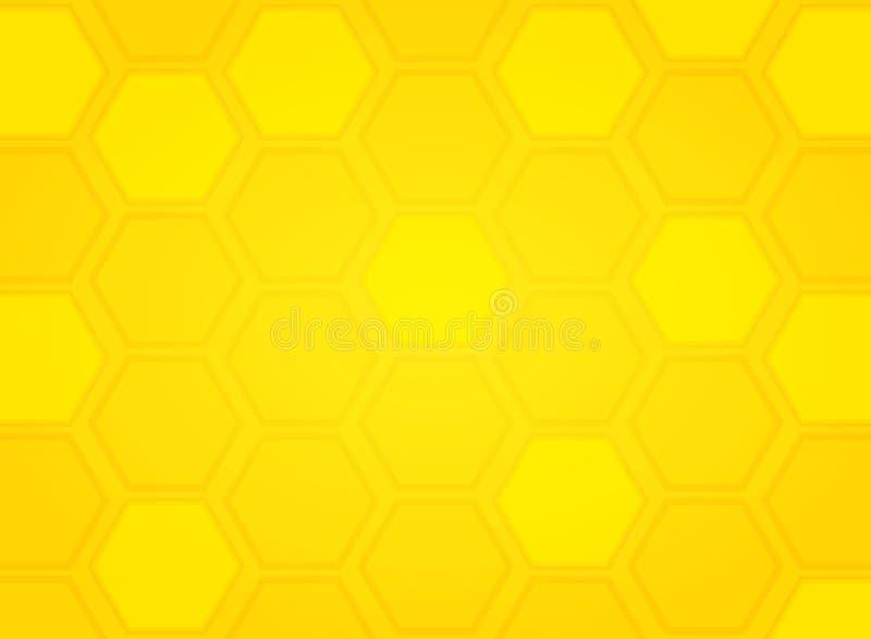Fondo giallo moderno di esagono del modello dell'alveare dell'estratto Vettore eps10 dell'illustrazione illustrazione vettoriale