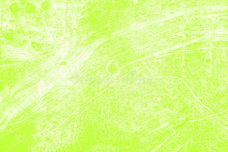 Fondo giallo verde bianco dei colpi del pennello fotografie stock libere da diritti