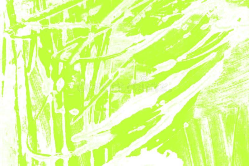 Fondo giallo verde bianco dei colpi del pennello immagini stock libere da diritti