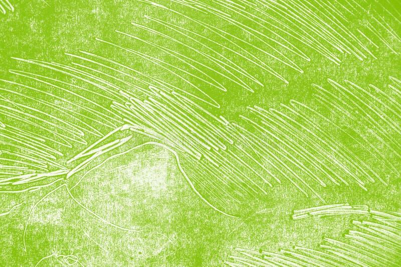Fondo giallo verde bianco dei colpi del pennello fotografie stock
