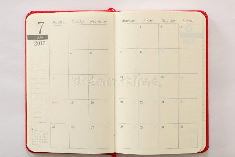 Fondo giapponese di struttura della pagina di luglio del libro di programma fotografia stock libera da diritti