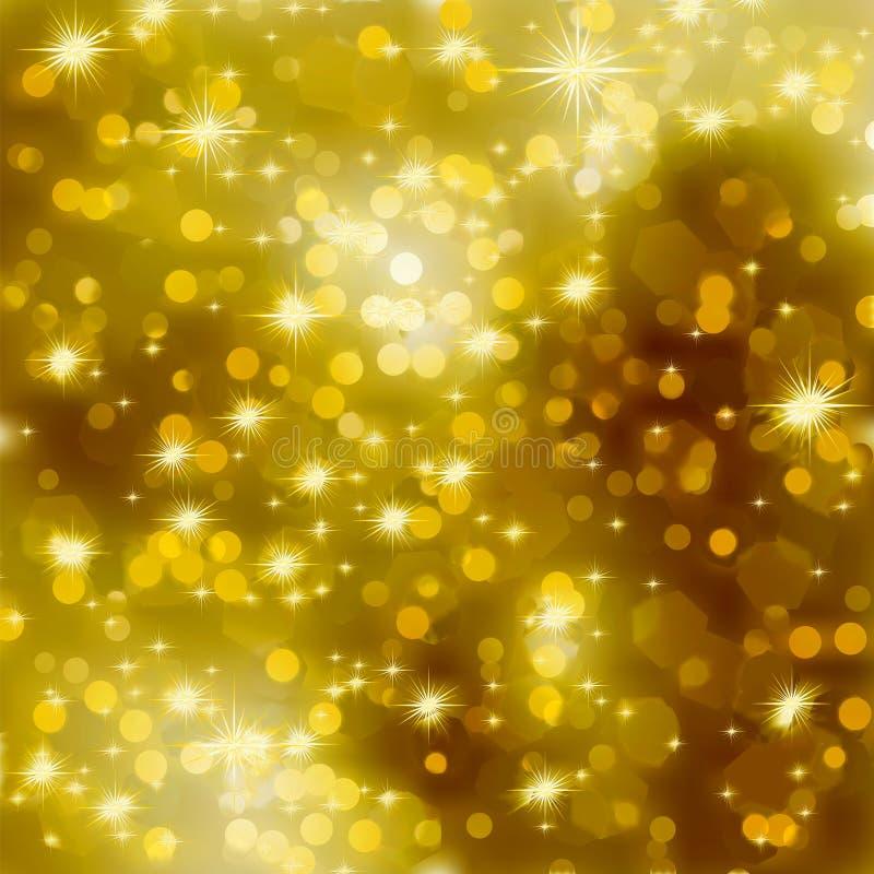 Fondo Glittery de la Navidad del oro. EPS 8 ilustración del vector