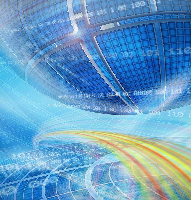 Fondo global abstracto de la tecnolog stock de ilustración