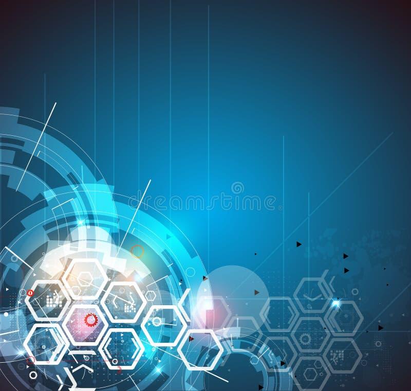 Fondo global del negocio del concepto de la informática del infinito stock de ilustración