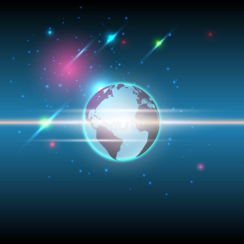 Fondo global y de las estrellas de comunicación de la tecnología libre illustration