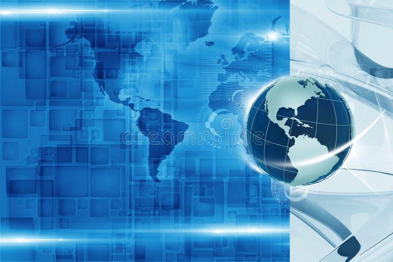 Fondo globale di tecnologia illustrazione di stock