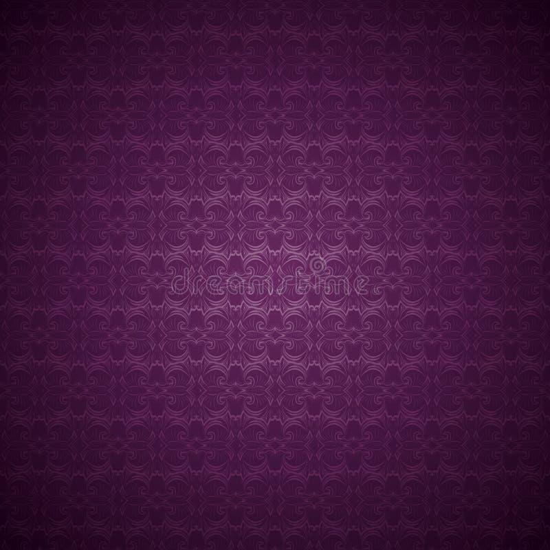 fondo gotico d'annata in porpora scuro, magenta, amarantino illustrazione vettoriale