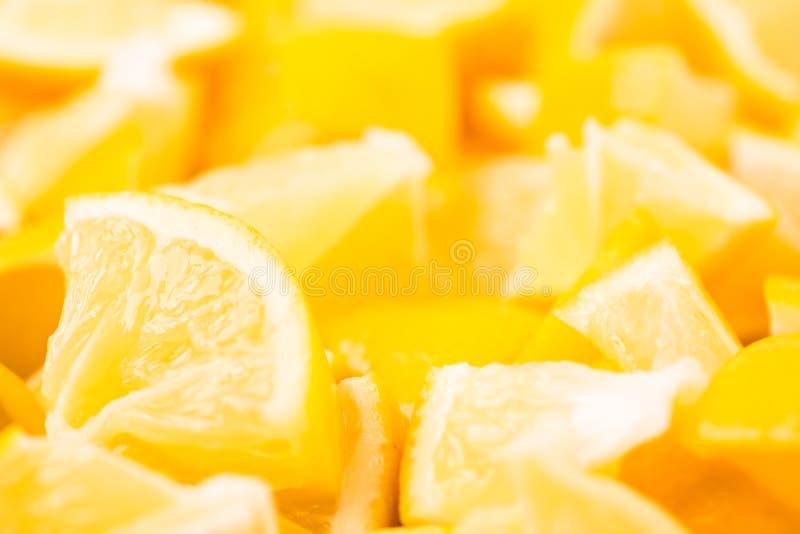 Fondo gráfico de la comida moderna con el limón Concepto creativo abstracto de la bandera fotos de archivo