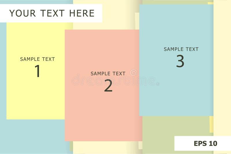 Fondo gráfico de la información en colores pastel de la presentación con el espacio de la copia ilustración del vector