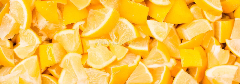 Fondo gráfico de la moda de la comida sana de la comida con el limón Concepto creativo abstracto de la bandera Colores brillantes fotos de archivo